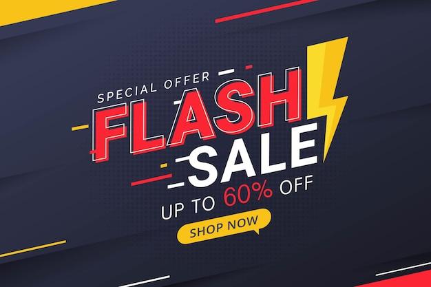Promoción de descuento de precio de banner de oferta especial de descuento de venta flash
