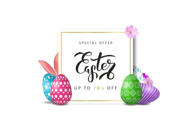 Promoción especial de pascua con huevos