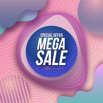 Promoción de etiqueta de venta abstracta