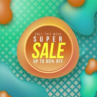 Promoción de etiqueta de ventas colorido abstracto