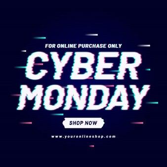 Promoción de glitch cyber monday