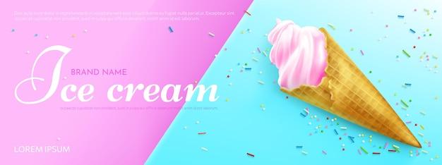 Promoción de helado realista