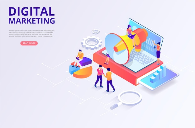Promoción de la investigación de marketing digital smm seo focalización monetización
