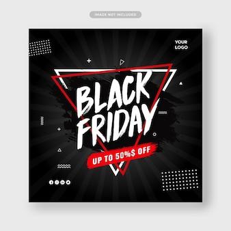 Promoción de oferta especial de viernes negro para redes sociales.