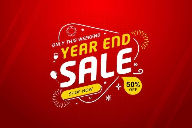 Promoción de plantilla de banner de descuento de venta de año nuevo
