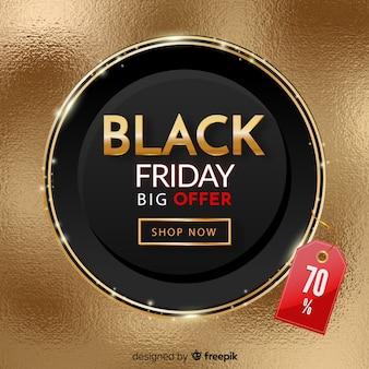Promoción realista de viernes negro
