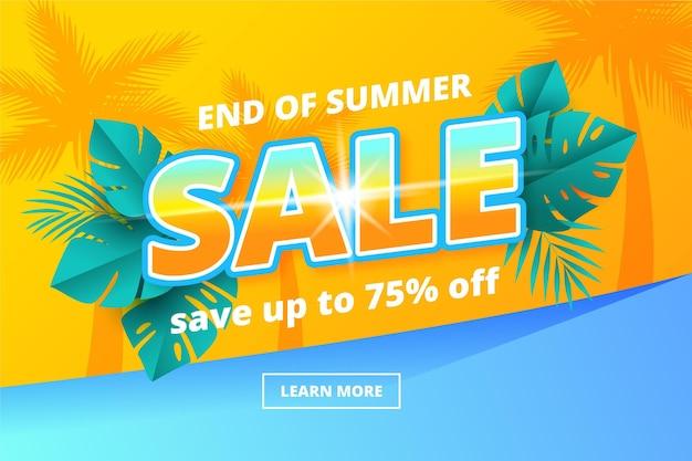 Promoción de rebajas de verano de fin de temporada