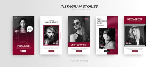Promoción de redes sociales de banner de moda.