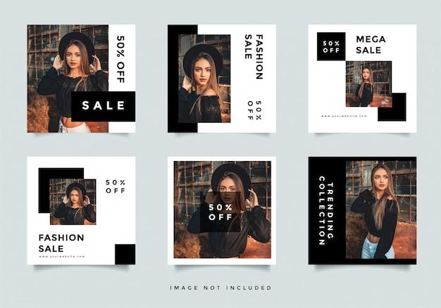 Promoción de redes sociales de moda