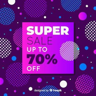 Promoción de super venta abstracta