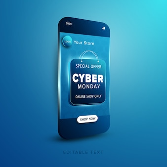 Promoción tienda online cyber monday