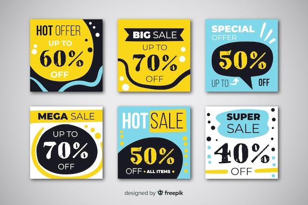 Promoción de venta de banners para redes sociales