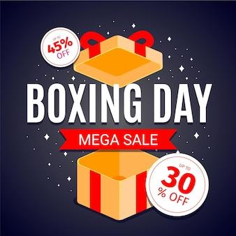 Promoción de venta de boxing day plana