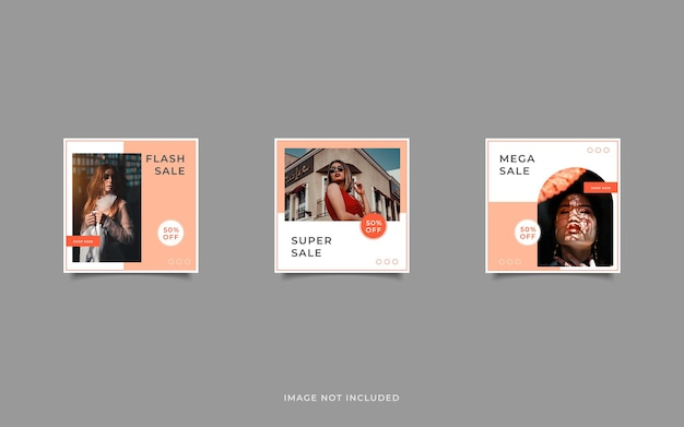 Promoción de venta de moda pastel minimalista publicación de instagram