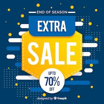 Promoción de ventas abstracta azul y amarilla