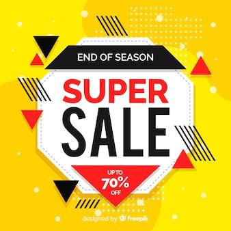 Promoción de ventas abstractas en estilo memphis