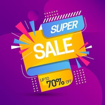 Promoción de ventas con super venta