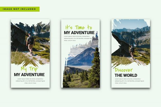Promociones de publicaciones en redes sociales de viajes