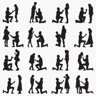 Proponer siluetas de parejas