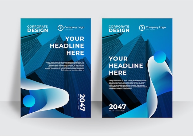 Propuesta de negocio de vector de curva azul, folleto, folleto, diseño de plantilla de volante, diseño de diseño de portada de libro, plantilla de presentación de negocio abstracto, diseño de tamaño a4