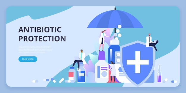 Protección antibiótica. vacunación. dosis de medicación preventiva para proteger el cuerpo de infecciones epidémicas, virus, enfermedades y dolencias.
