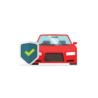 Protección del automóvil con símbolo de escudo