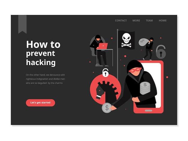 Protección contra ataques de piratas informáticos