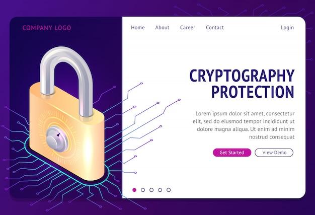 Protección de criptografía, plantilla web