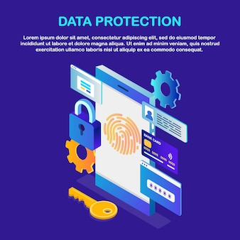 Protección de datos. escanee la huella dactilar al teléfono. seguridad de identificación de teléfono inteligente. identificación biométrica