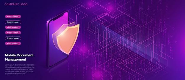 Protección de datos, garantía de seguridad en línea.
