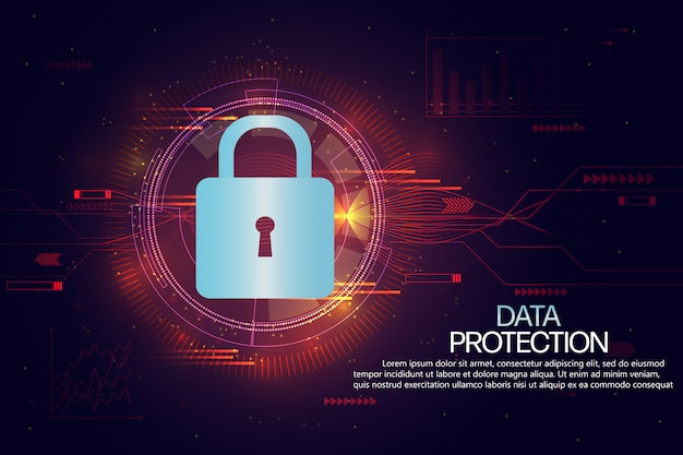 Protección de datos y plantilla de fondo de seguro