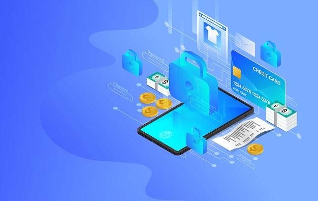 Protección de red, seguridad de red, servicios web de tecnología futura para proyectos empresariales e internet, piratas informáticos