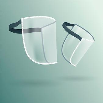 Protector facial realista de plástico