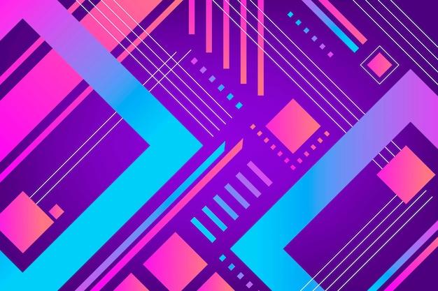 Protector de pantalla colorido degradado de formas geométricas