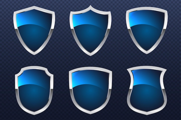 Proteger el concepto de línea plana de escudo protector