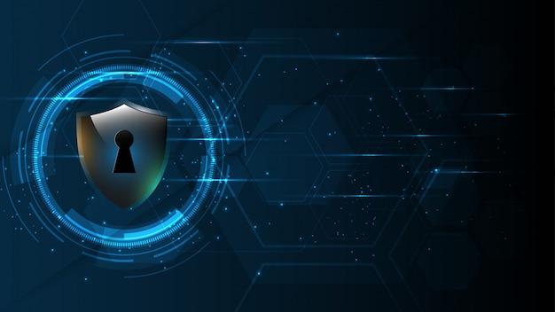 Protegido guardia escudo seguridad seguridad cibernética digital resumen tecnología fondo