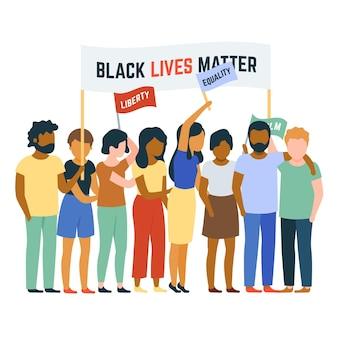 Protesta contra el concepto de racismo