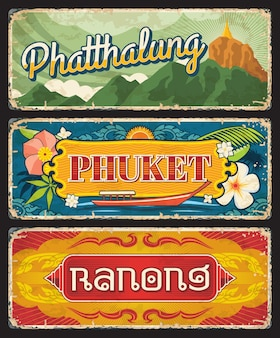 Provincias de phuket, ranong y phatthalug tailandia