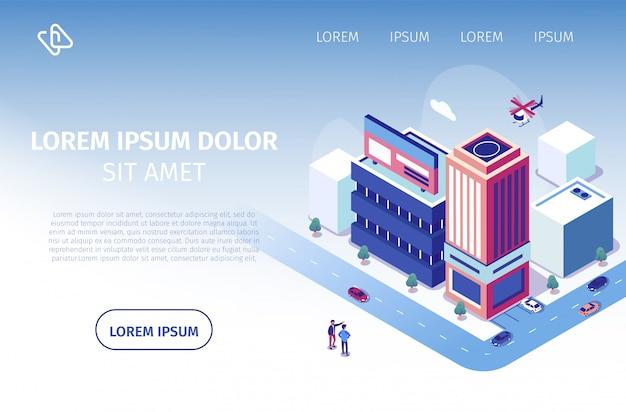Proyecto de inversión inmobiliaria vector sitio web