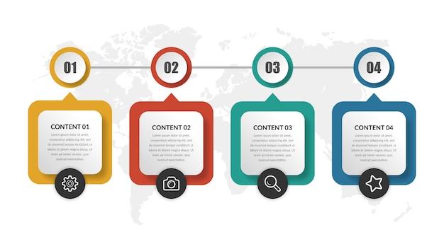Proyecto de negocio de elemento de infografía resumen línea de tiempo