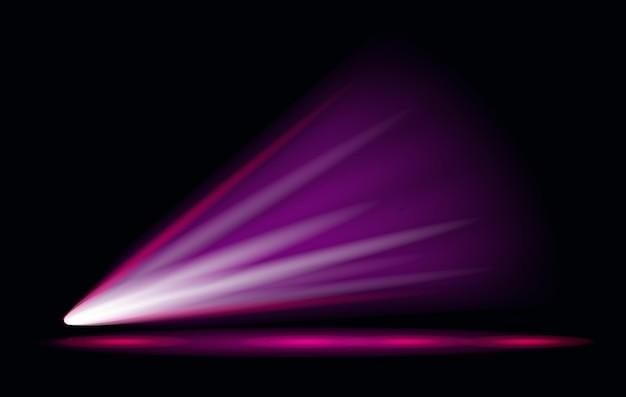 Proyector de efecto de luz de vector con fondo transparente