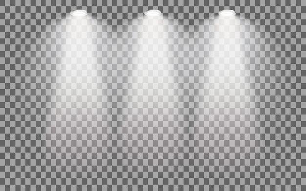 Proyector iluminado por etapas