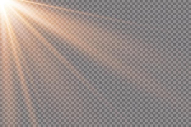 Proyector de vector. efecto de luz