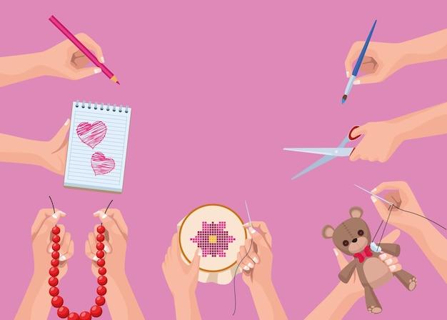 Proyectos de manualidades y bricolaje de manos