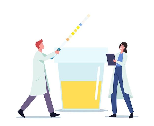 Prueba de orina para chequeo de enfermedades en un hospital o laboratorio clínico