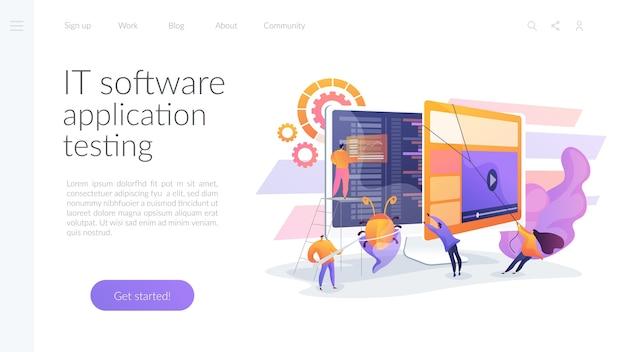 Pruebas de aplicaciones de software de ti