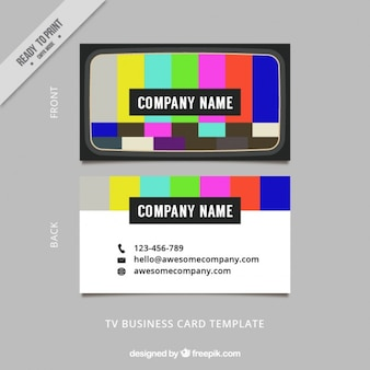 Pruebe la tarjeta tarjeta de la empresa de comunicación