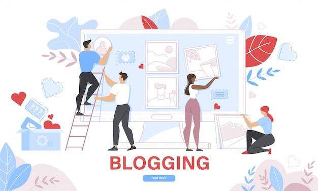 Publicación de blogs comerciales, plantilla de sitio web del servicio de blogs de internet