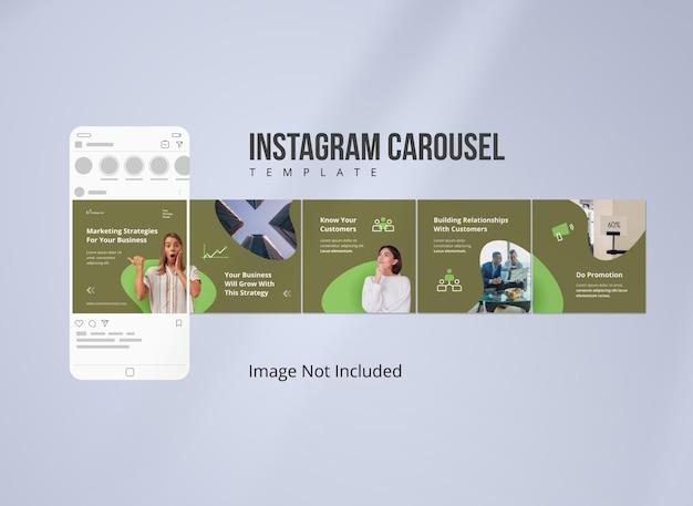 Publicación en carrusel de instagram para estrategia empresarial