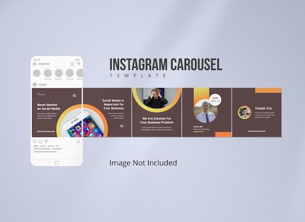Publicación de carrusel de instagram de marketing empresarial
